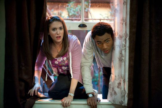 "COMMUNITY -- ""Football and Nocturnal Vigilantism"" Episode 309 -- Pictured: (l-r) Alison Brie as Annie, Donald Glover as Troy -- Photo by: Lewis Jacobs/NBC"