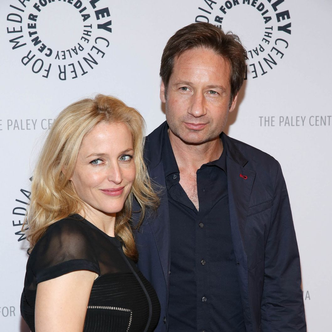 "David Duchovny and Gillian Anderson attend ""The Truth Is Here: David Duchovny And Gillian Anderson On The X-Files"" presented by the Paley Center For Media at Paley Center For Media on October 12, 2013 in New York City."