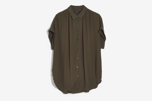Madewell Central Drapey Shirt, Kale