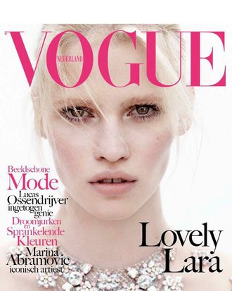 Lara Stone for <em>Vogue</em> Netherlands.