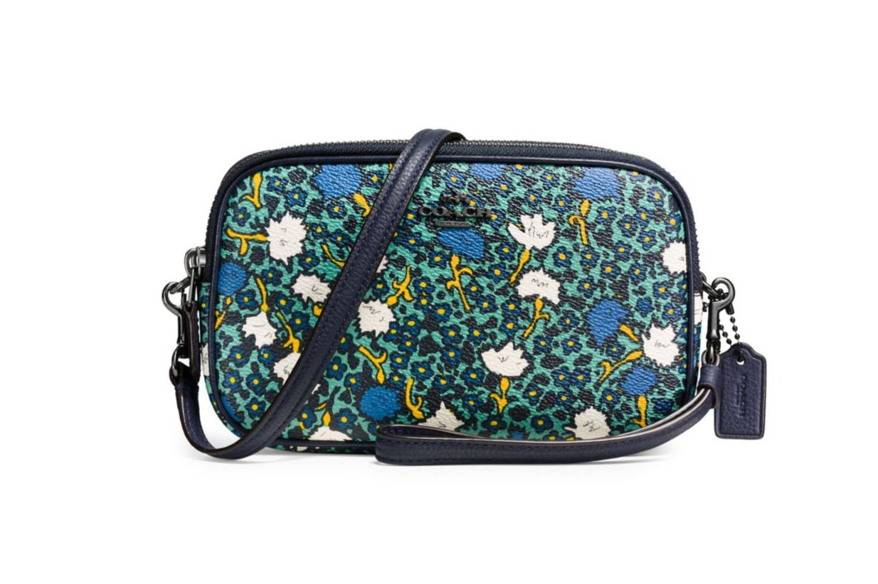 Coach Yankee Floral-Printed Coated Canvas Crossbody Bag