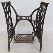 Iron Singer Sewing Machine Base