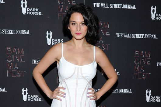 "NEW YORK, NY - JUNE 18:  Actress Jenny Slate attends the ""Boyhood"" opening night screening during the 2014 BAMcinemaFest at BAM Harvey Theater on June 18, 2014 in New York City.  (Photo by Ilya S. Savenok/Getty Images)"