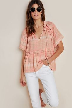 Anthropologie Bette Babydoll Blouse