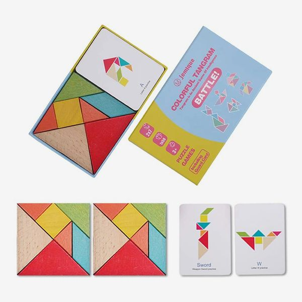 JEMIQUE Tangram Wooden Puzzle Geometry Game