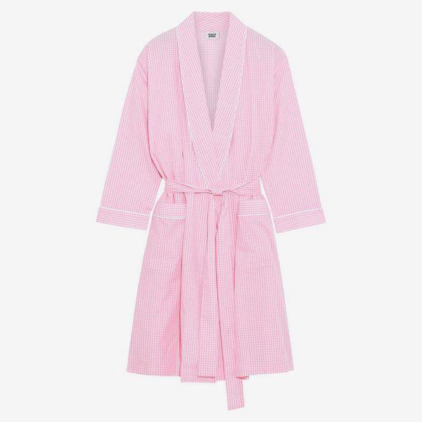 Isa Gingham Cotton Robe - strategist best isa gingham pink cotton robe