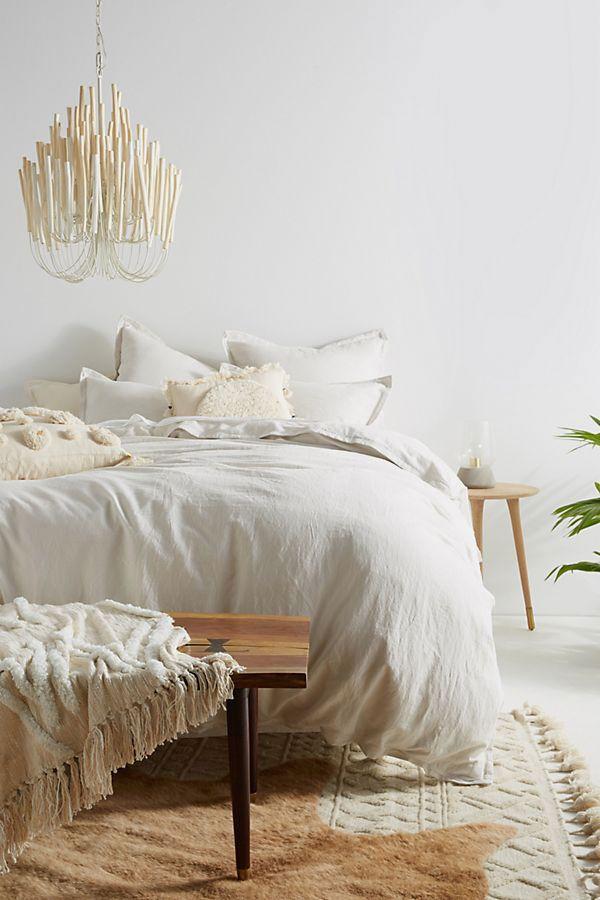 Relaxed Cotton-Linen Duvet Cover, Full