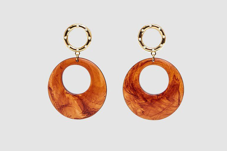 Lizzie Fortunato La Fonda Drop Earrings in Butterscotch