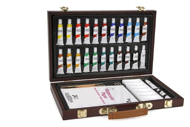 Darice 34 Piece Watercolor Painting Set