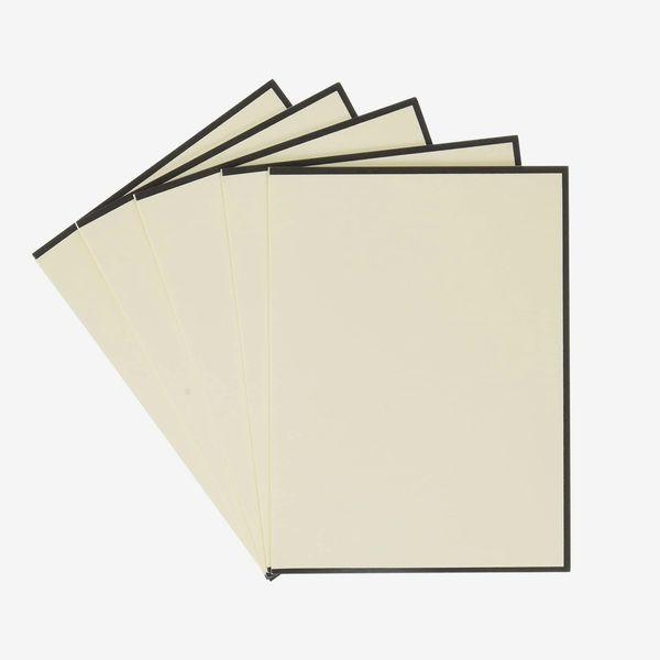 Crane & Co. Black Bordered Ecruwhite Note, Set of 10 with Envelopes