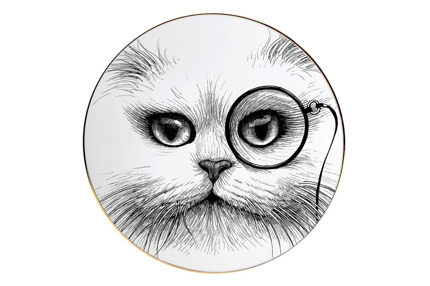 Rory Dobner cat-monocle platter