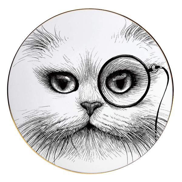 Rory Dobner cat-monocle platter