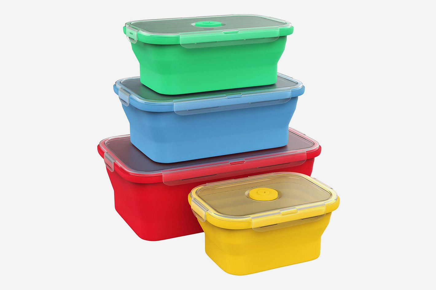 Vremi Silicone Food-Storage Containers With BPA-Free Airtight Plastic Lids