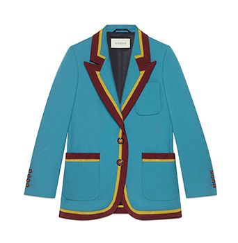 Wool Jacket With Ribbon Trim