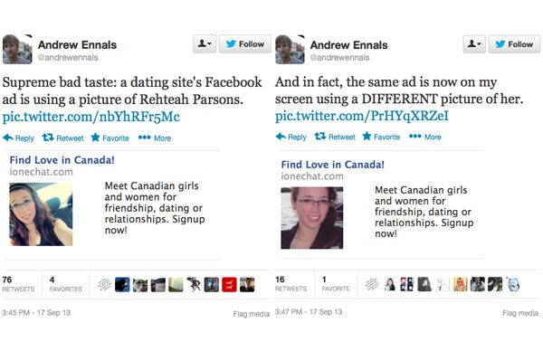 dating website apologizes for rehtaeh parsonss picture Rehtaeh parsons, 17, committed suicide after months of bullying handout/facebook the use of photos of rehtaeh parsons in online dating ads posted on facebook is upsetting but ultimately an inevitable reality of social media, an expert in internet and privacy law said wednesday.