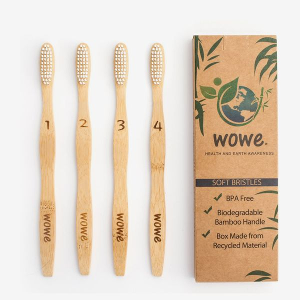 Wowe Eco-Friendly and Natural Bamboo Toothbrush for Adults