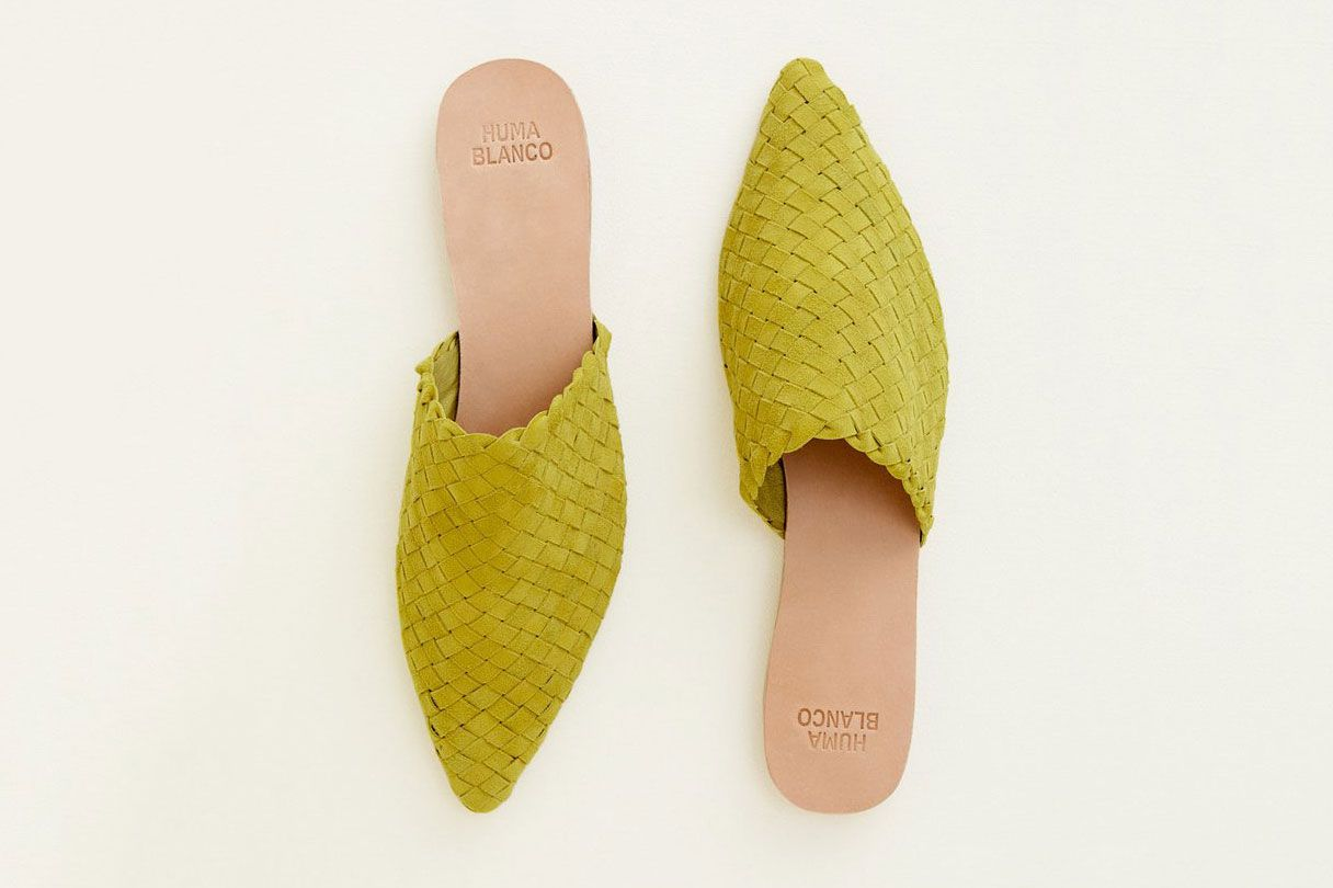 Huma Blanco Marina Slides in Citron