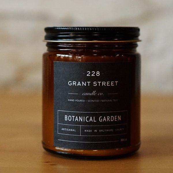 228 Grant Street Candle Co. Botanical Garden Amber Jar