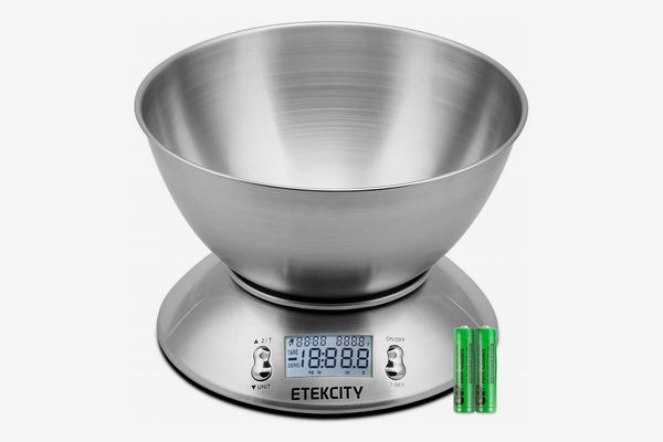Etekcity Digital Kitchen Scale Multifunction Food Scale with Removable Bowl