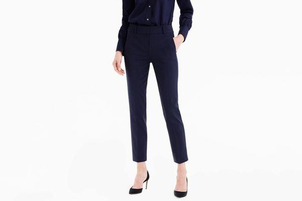 Cameron Slim Crop Pants in Italian Two-Way Stretch Wool Pants