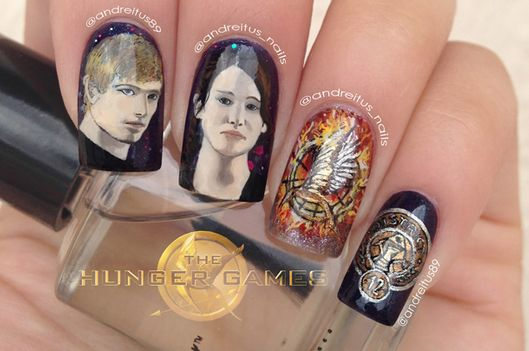 The best hunger games catching fire nail art vulture we would all like you to know what a privilege it has been to make you look your best says venia one of the only remaining members of katnisss prep prinsesfo Gallery