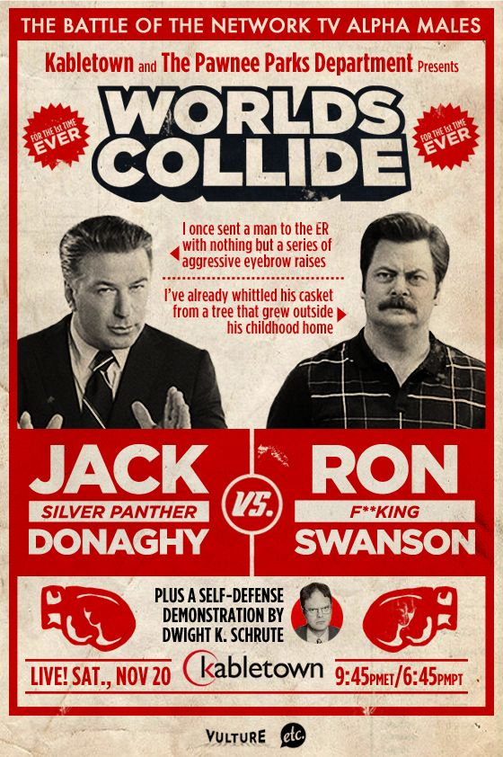 Jack Donaghy vs. Ron Swanson boxing match