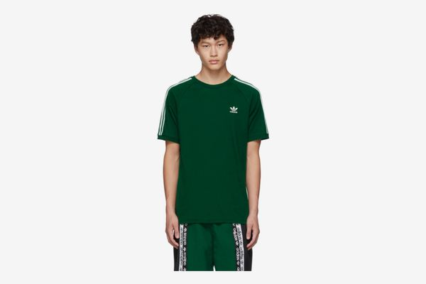 Adidas Originals Green 3-Stripe T-Shirt
