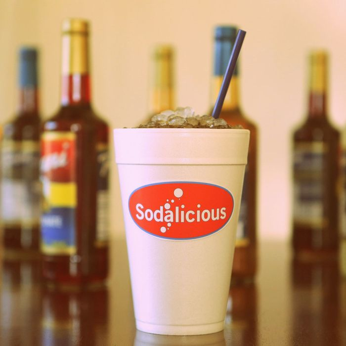 Some sodas are spiked with extra syrup and half-and-half.