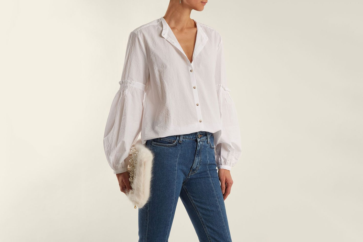 M.I.H. Esther Crinkled-Cotton Shirt