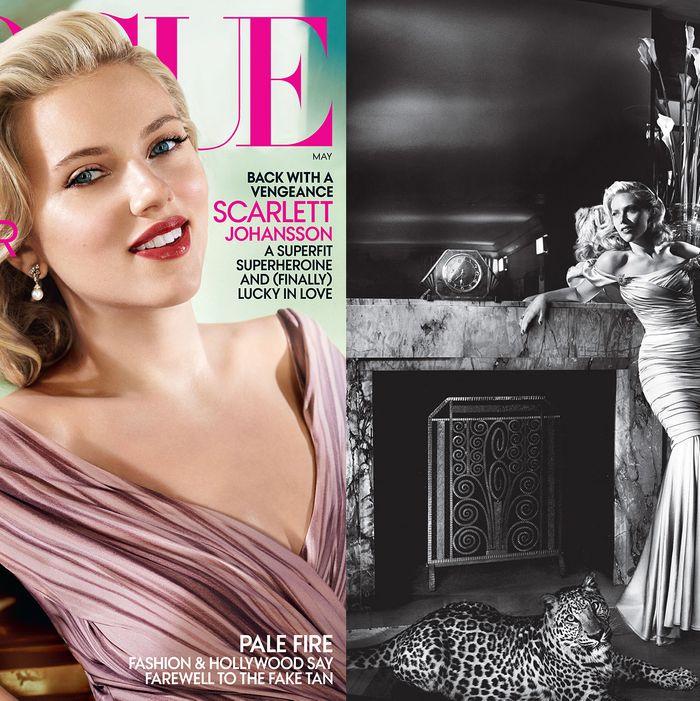 Scarlett Johansson (and tiger) shot by Mario Testino.