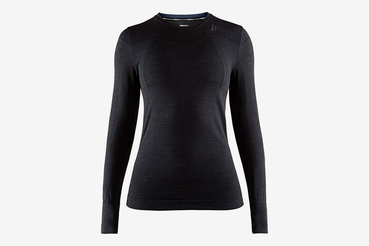 Craft Sportswear Women's Fuseknit Comfort Roundneck Long-Sleeved Base-Layer Wicking Shirt