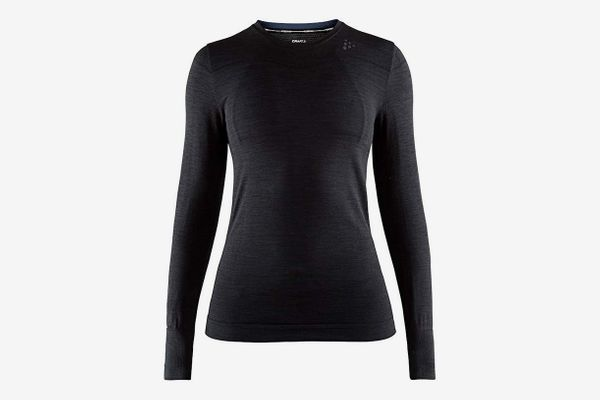 Craft Sportswear Women's Fuseknit Comfort Roundneck Long-Sleeved Base-Layer Wicking Shirt