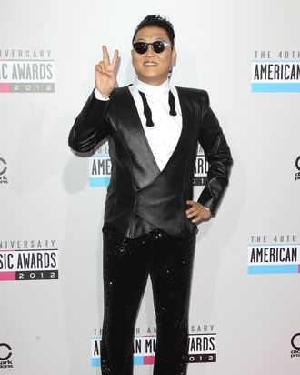 PSY at the 40th Anniversary American Music Awards.