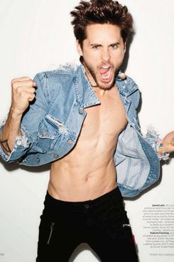 Jared Leto in British <em>Vogue</em>.