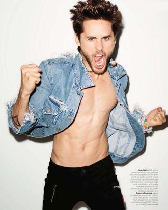 Jared Leto in British <em>Vogue</em>.