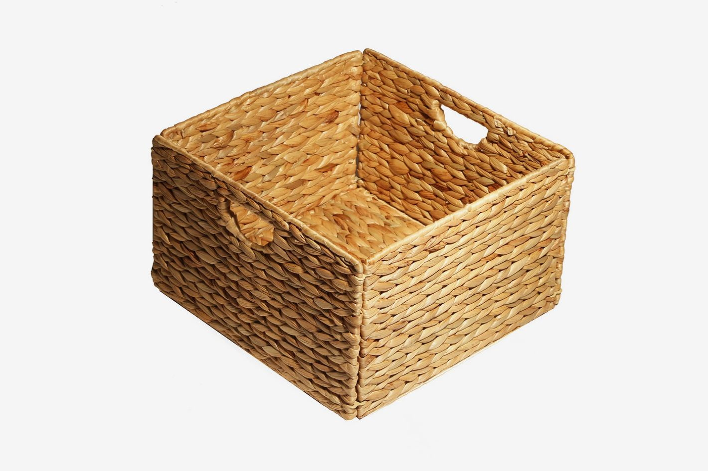 Seville Classics Woven Hyacinth 2-Pack Storage Cube Basket at Bed Bath u0026 Beyond & 23 Wicker Storage Baskets That Look Like Decor - 2018