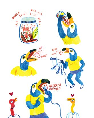 A page from Hot Dog Taste Test.