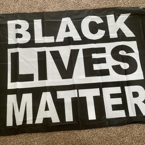 Delightfully Bliss Black Lives Matter Flag