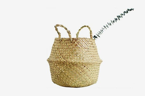 RISEON Natural Seagrass Belly Basket (14-Inches)
