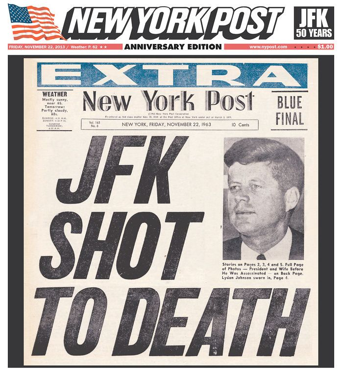 New York Daily News Cover: The 10 Best JFK Anniversary Newspaper Covers -- NYMag
