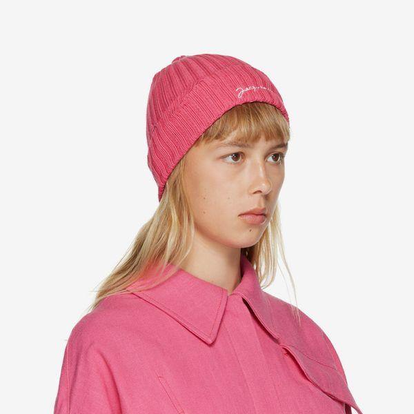 Jacquemus Pink 'Le Bonnet' Beanie