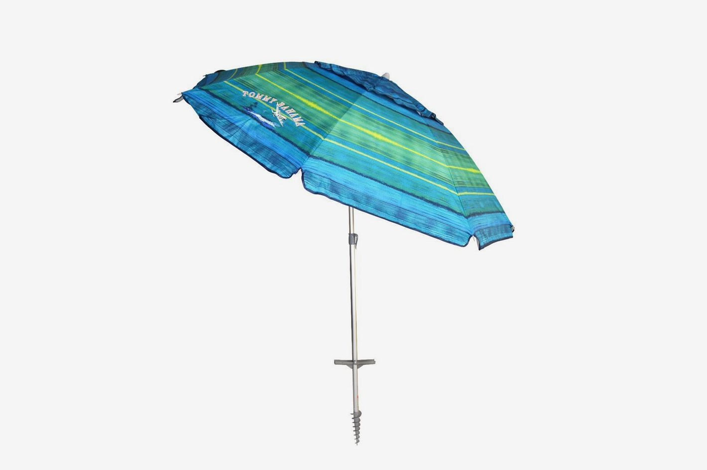 Tommy Bahama Sand Anchor 7 Beach Umbrella With Tilt And Telescoping Pole At