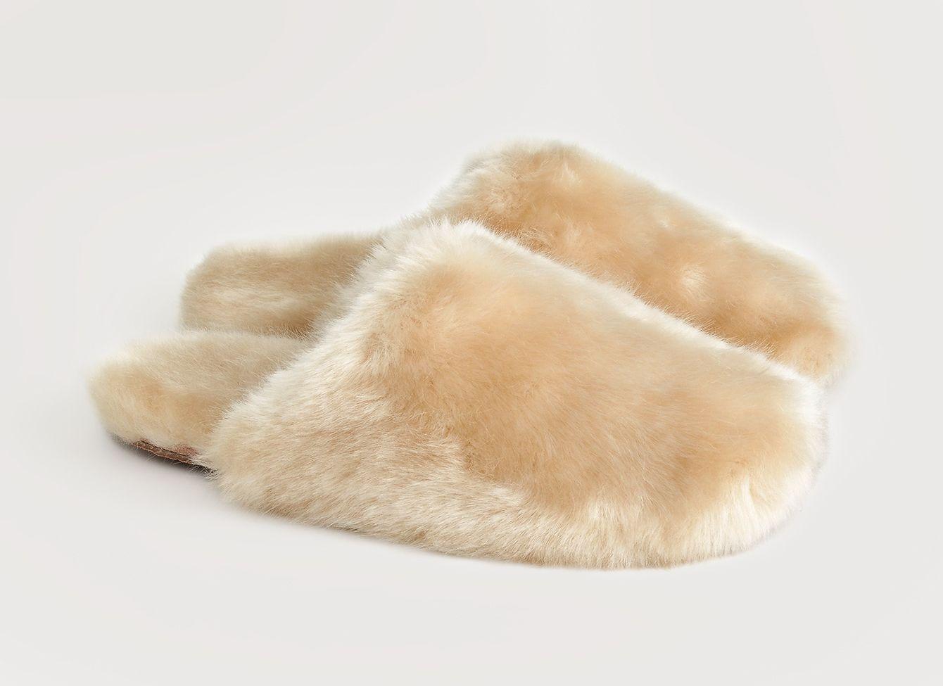 J. Crew Fuzzy Slippers