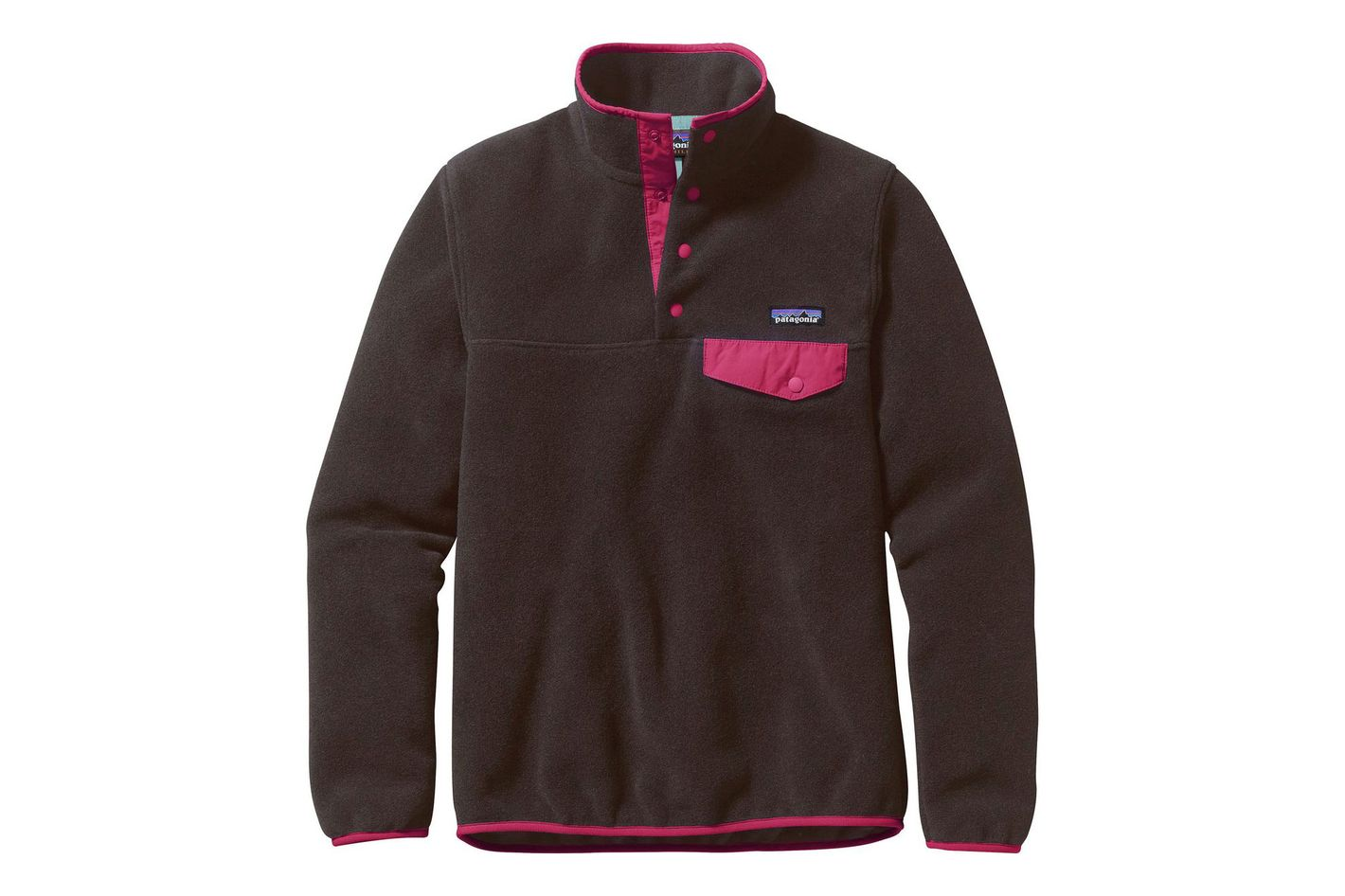 Patagonia Synchilla Lightweight Snap-T Fleece Pullover in Ink Black