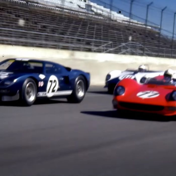 A Ford Gt And A Ferrari P Face Off At Le Mans