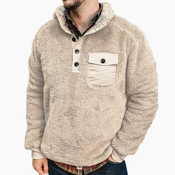Poriff Men's Sherpa Fleece Pullover