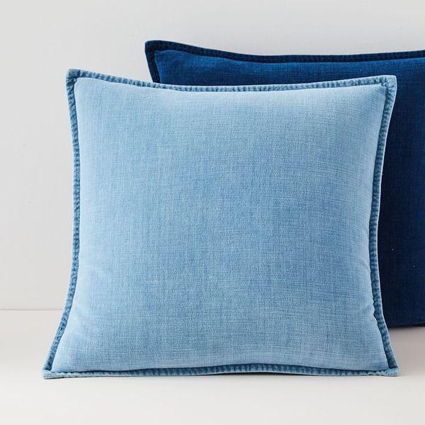 West Elm Cotton Velvet Indigo Pillow Covers