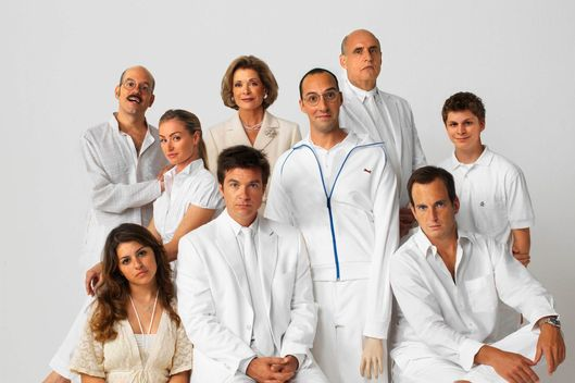 It's OK honey, they're in heaven now. The Arrested Development cast sporting their white after Labor Day best. (AP Photo/HO/Fox Broadcasting Co./Art Streiber)