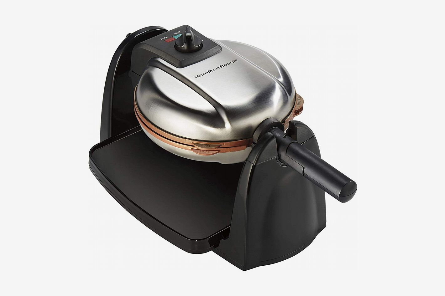 Hamilton Beach Copper Removable Grid Belgian Waffle Maker