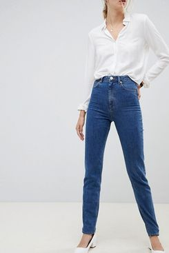 ASOS DESIGN Tall Recycled Farleigh High Waisted Slim Mom Jeans